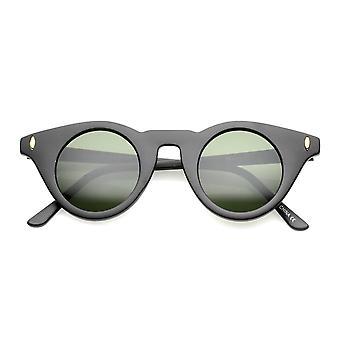 Frauen kleine schlanke Tempel flachen runden Linse Cat Eye Sonnenbrille 39mm