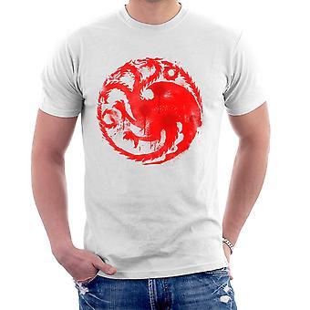 Game of Thrones Targaryen Sigil Three Headed Dragon Spray Men's T-Shirt
