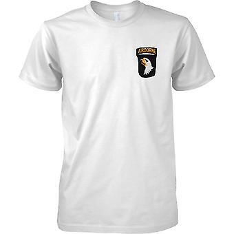 US Army 101st Airborne Division - Screaming Eagles Patch Print - Mens Brust Design T-Shirt