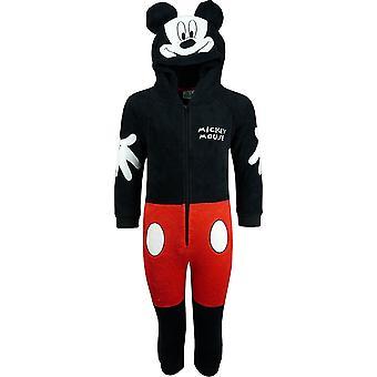 Disney Mickey Maus jungen Fleece Kapuzen Strampler Schlafanzug / Schlafanzüge