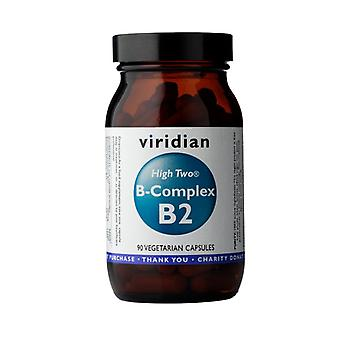 Viridian HIGH TWO Vitamin B2 with B-Complex, 90 Veg Caps