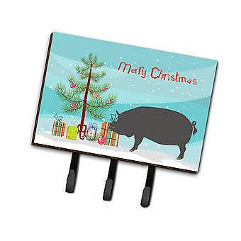 Carolines Treasures  BB9300TH68 Berkshire Pig Christmas Leash or Key Holder