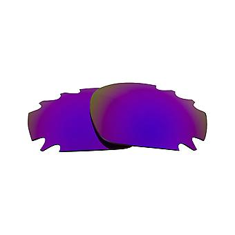 SEEK Lenses Compatible for Oakley VENTED RACING JACKET Purple Mirror