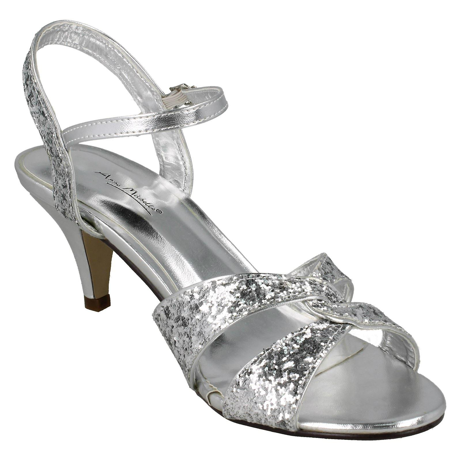 Mesdames Anne Michelle Ankle Strap Mid Sandale Talon