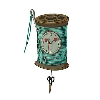 Allen Designs Needle and Thread Pendulum Wall Clock