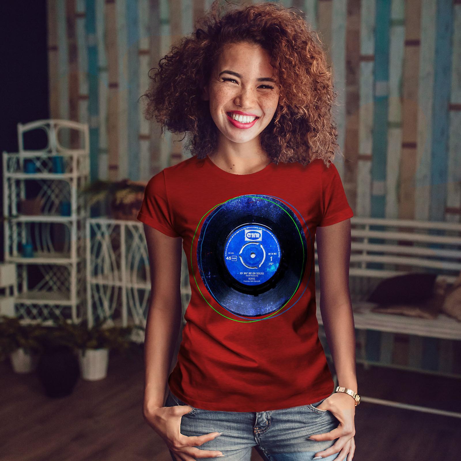 VYNYL Beat Dance musique RedT-chemise femme | Wellcoda