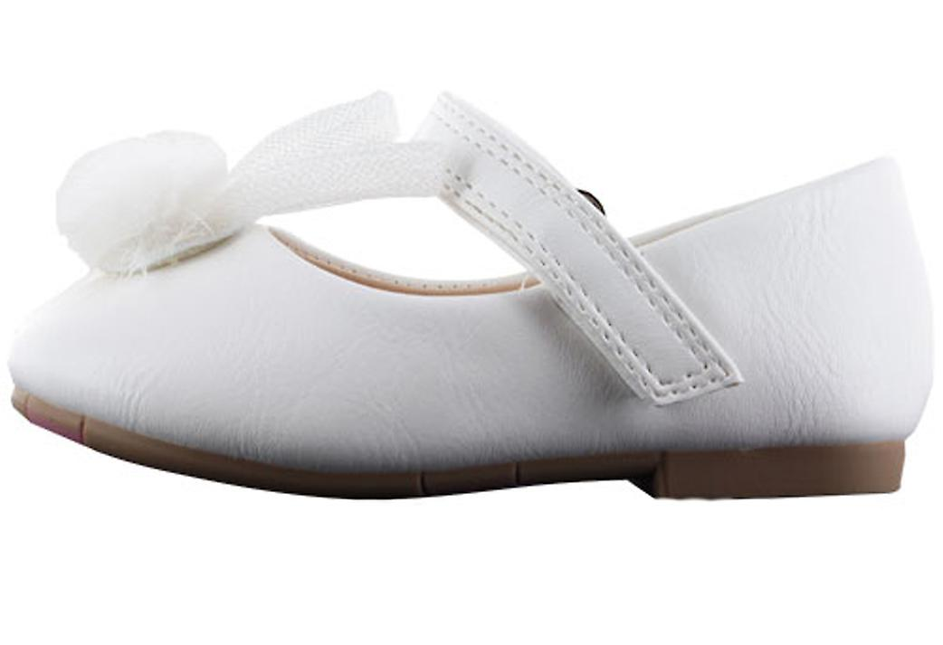 Infant girls white PU party ballerina shoes