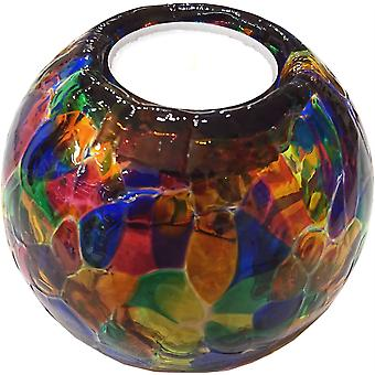 Round Globe Tealight Holder - Multi by Milford Collection