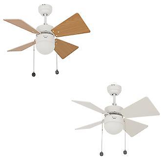 "Far ventilator plafon Breezer alb cu lumina 81 cm/32 """
