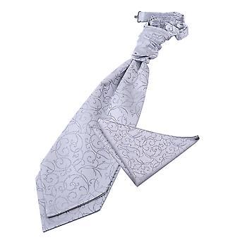 Silver Pyörittele häät Cravat & taskussa neliön Set