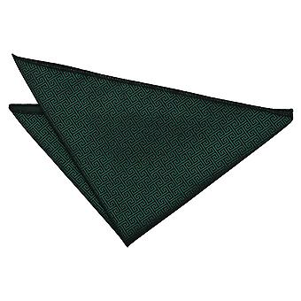 Dark Green Greek Key  Pocket Square