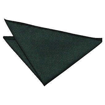 Dark Green grekiska nyckeln Pocket Square