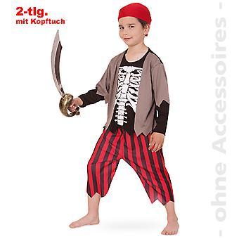Pirata crianças fantasia pirata fantasia infantil, fantasia de esqueleto traje de Halloween