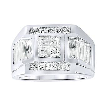 Sterling 925er Silber Pave Ring - SPORTY