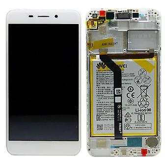 Unità di Huawei display LCD + Pro Service Pack 02351LNB bianco cornice per onore 6 C nuovo