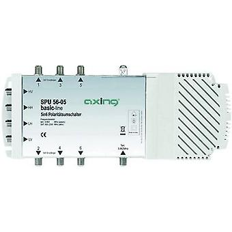 Axing SPU 56-05 SAT multiswitch Inputs (multiswitches): 5 (4 SAT/1 terrestrial) No. of participants: 6 Quad LNB compatible