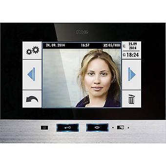 m-e moderno-elettronica 41022 Video citofono con filo interno anta nero, in acciaio inox
