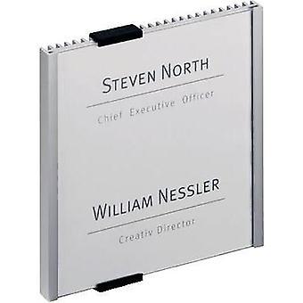 Kestävä ovi merkki INFO - 4802 (W x K) 149 x 148,5 mm metalli, hopea 480223