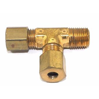 "Big A Service Line 3-171320 Brass Pipe, Tee Fitting Kit 3/16"" x 1/8"""