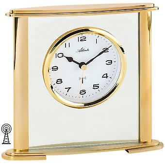Atlanta 3092/9 stil ur tabel clockradio analog golden med glas