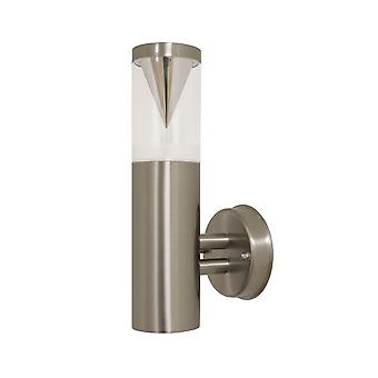 Outdoor Sconce Keoma wall stainless steel IP44 E27 10607