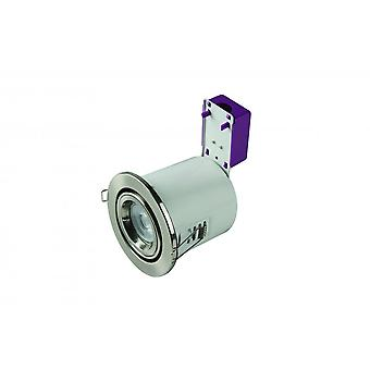 LED Robus Starling Mains Die-Cast Fire Rated Downlight, 100mm Tilt, Brushed Chrome