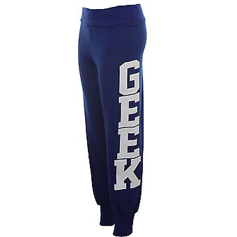 Дамы Geek печати брюки костюм днища Беговые штаны женщин бегунов