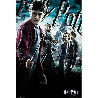 Harry Potter en de half-blood-prinz poster Harry, Perkamentus, Hermelien & Ron. 91,5 x 61 cm