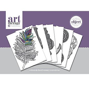 Art therapy objects poster coloring book (6 off time poster) 30x40cm, in printed cardboard envelope.