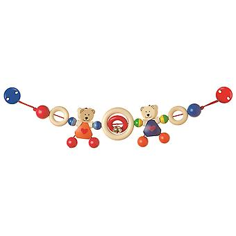 Heimess Pram Chain Heart Bears With Clips