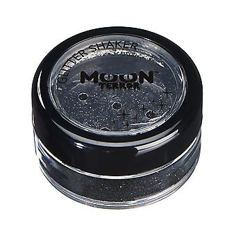 Moon Terror - Halloween Glitter Shaker makeup for the Face & Body - 5g - Easily add sparkles to your horror looks like a pro! Perfect for vampire, ghost, skeleton, witch, pumpkin, monster etc - Midnight Black