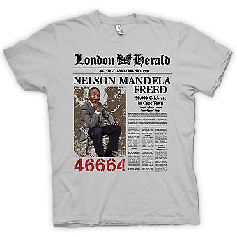 Womens T-shirt - Nelson Mandela befreite 46664 - ANC - Freiheit