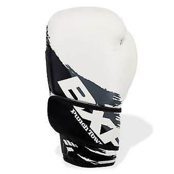 Rękawice bokserskie PunchTown BXR KR biały/czarny
