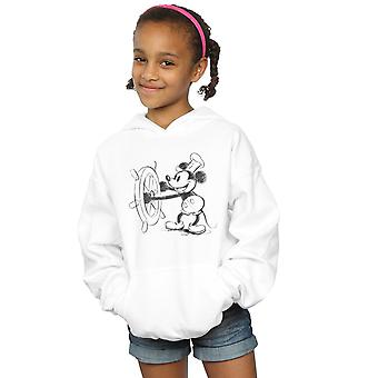 Disney Girls Mickey Mouse Steamboat Sketch Hoodie