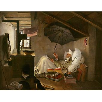 The Poor Poet, Carl Spitzweg, 50x40cm