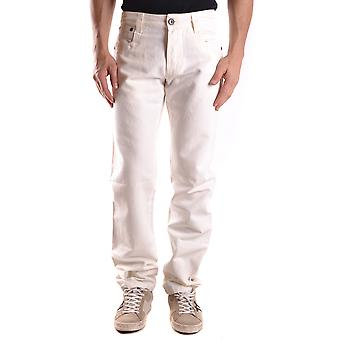 Bikkembergs Ezbc101035 Men's White Cotton Jeans
