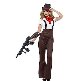 1920s gangster Dámske kostým set 4-kus zločinu večera