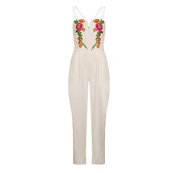 Girls On Film Womens/Ladies Florence Embroidered Jumpsuit