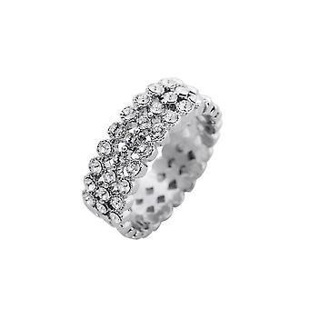 Fable Womens/Ladies Diamante Band Ring