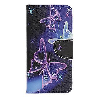 Samsung Galaxy A70 Portafoglio Caso-Vivid Farfalle