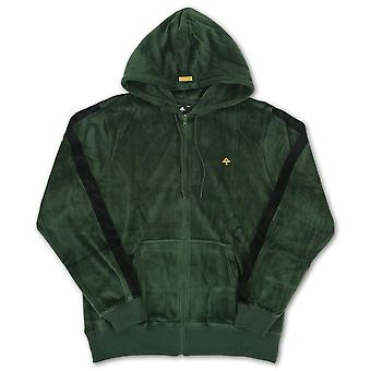 LRG Method Velour Full Zip Hoodie Dark Spruce