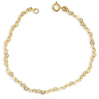 Gold-plated necklace Heart hollowed out 40cm