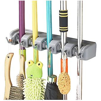 Wall-mount Tool Holder - Tool Holder DIY Handyman Cleaning Storage Wall-Mounted - For Brooms Mops Garden Tools