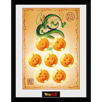 Dragonball Z Dragon Balls inramade Collector Print 40x30cm