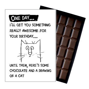 Cat Lovers Funny Birthday Gift for Men or Women Boxed Chocolate Greeting Card Present OD101