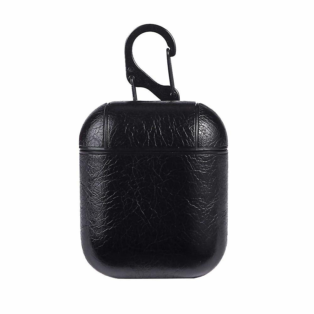 Leather Case for Apple Airpods/Airpods 2-Black