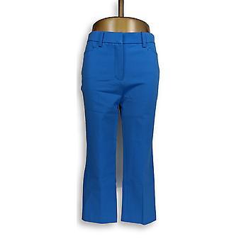 Isaac Mizrahi Live! Damen's Hose 24/7 Stretch Crop Blue A263948