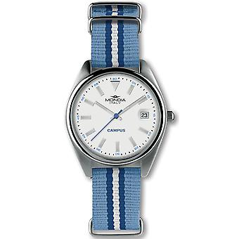 Mondia Campus Japanese Quartz Analog Woman Watch with Nylon Bracelet MI729-2CT