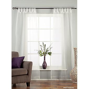 Bianco sulla scheda superiore puro tessuto tenda / drappo / pannello - 84