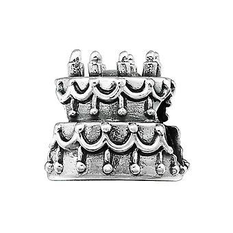 Kuchen - 925 Sterling Silber Plain Beads - W5598X